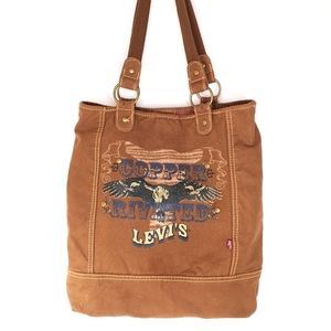 Levi's Vintage Tote Bag AS IS Copper Riveted